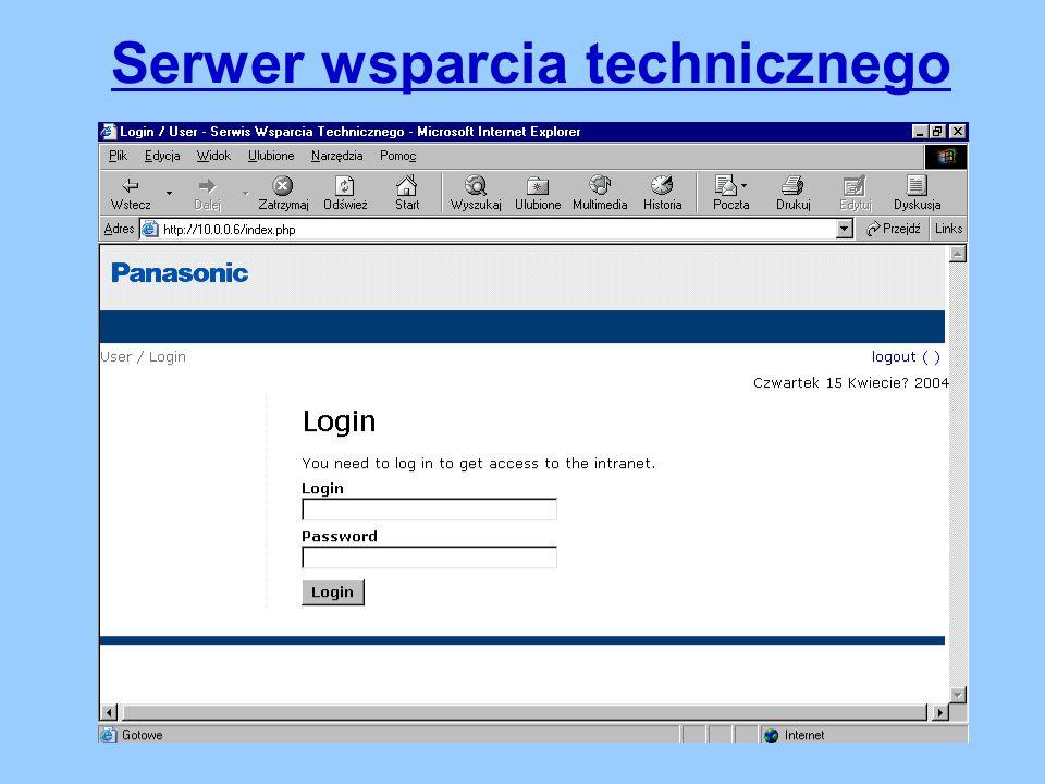 Serwer wsparcia technicznego