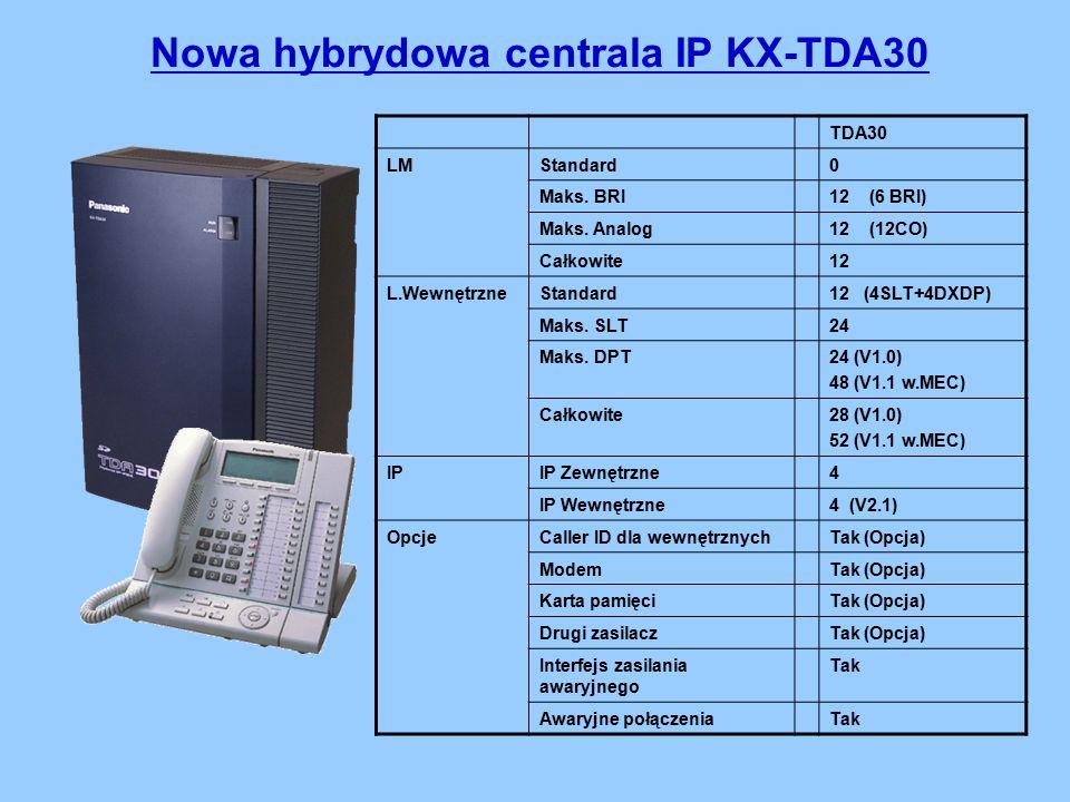 Nowa hybrydowa centrala IP KX-TDA30 TDA30 LMStandard0 Maks.