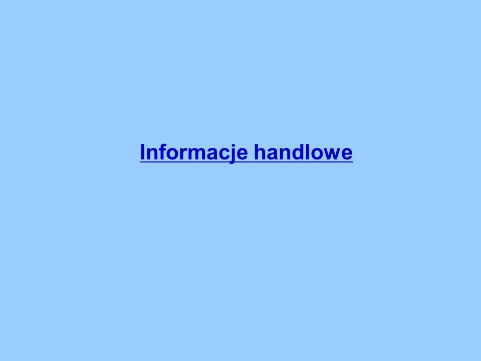 Informacje handlowe