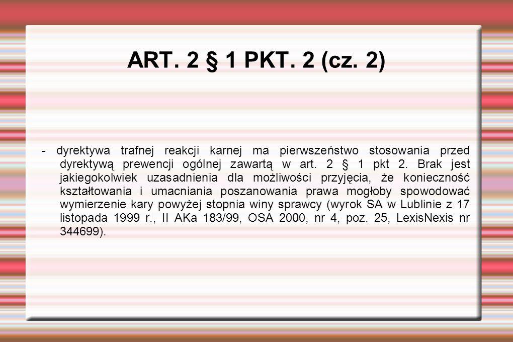 ART. 2 § 1 PKT. 2 (cz.