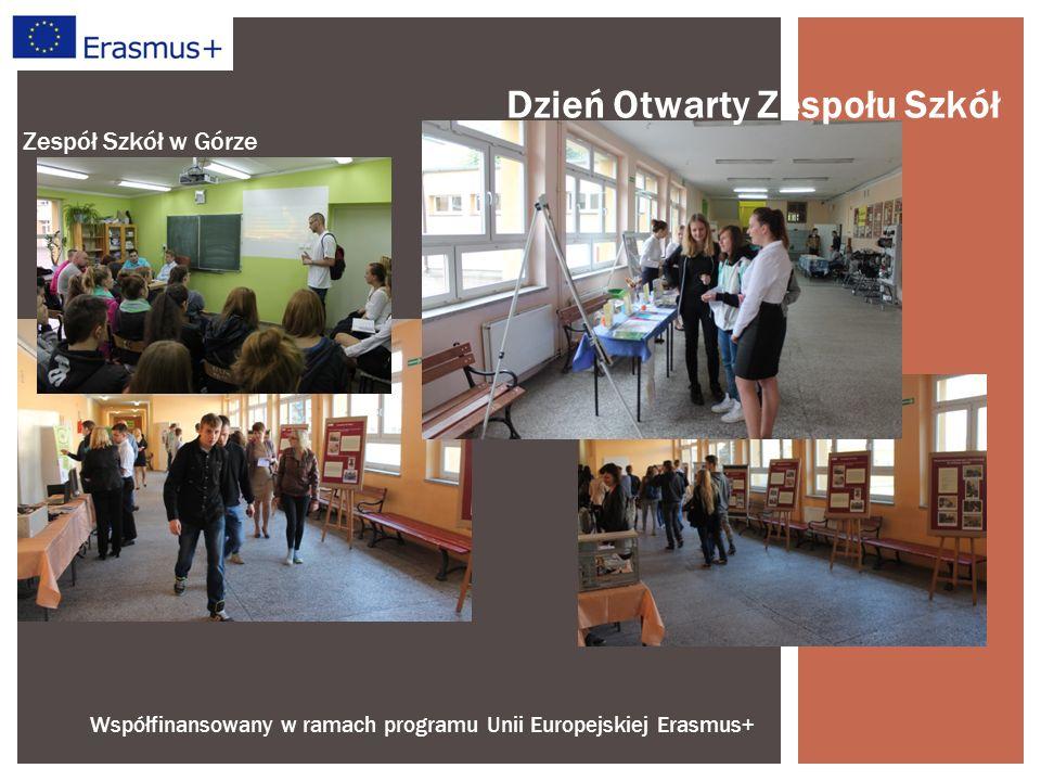Współfinansowany w ramach programu Unii Europejskiej Erasmus+ Zespół Szkół w Górze Dzień Otwarty Zespołu Szkół