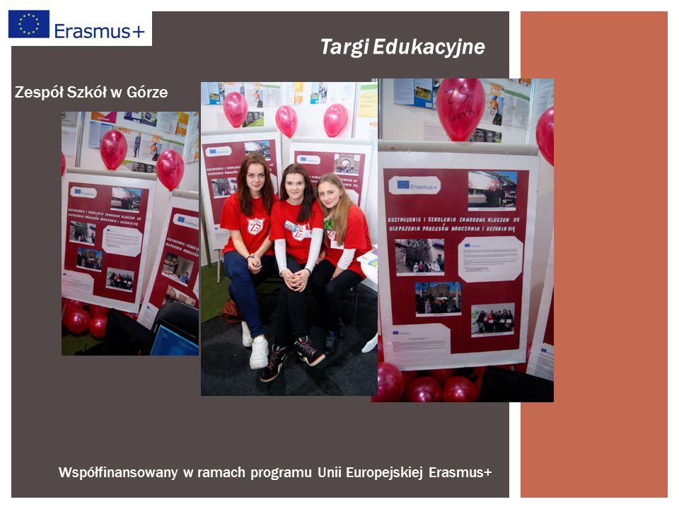 """Współfinansowany w ramach programu Unii Europejskiej Erasmus+ Zespół Szkół w Górze """"Rola systemu ECVET w rozwoju jakości kształcenia zawodowego w Polsce – konferencja o takiej tematyce odbyła się dnia 11 grudnia 2014 r."""