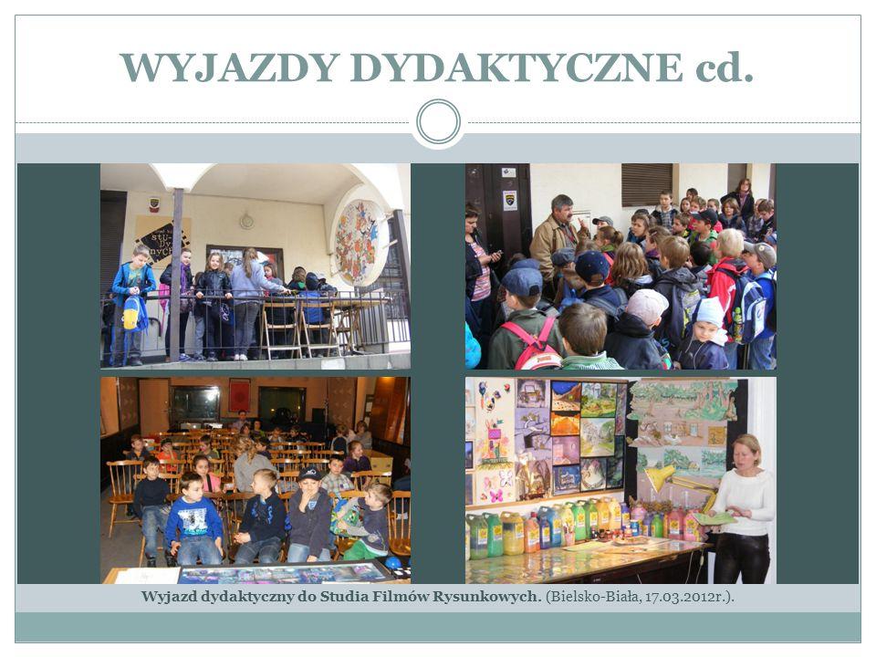 WYJAZDY DYDAKTYCZNE cd. Wyjazd dydaktyczny do Studia Filmów Rysunkowych. (Bielsko-Biała, 17.03.2012r.).