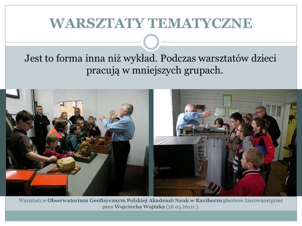 WARSZTATY TEMATYCZNE cd.