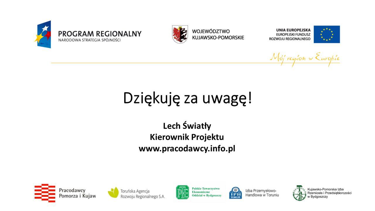 Lech Światły Kierownik Projektu www.pracodawcy.info.pl