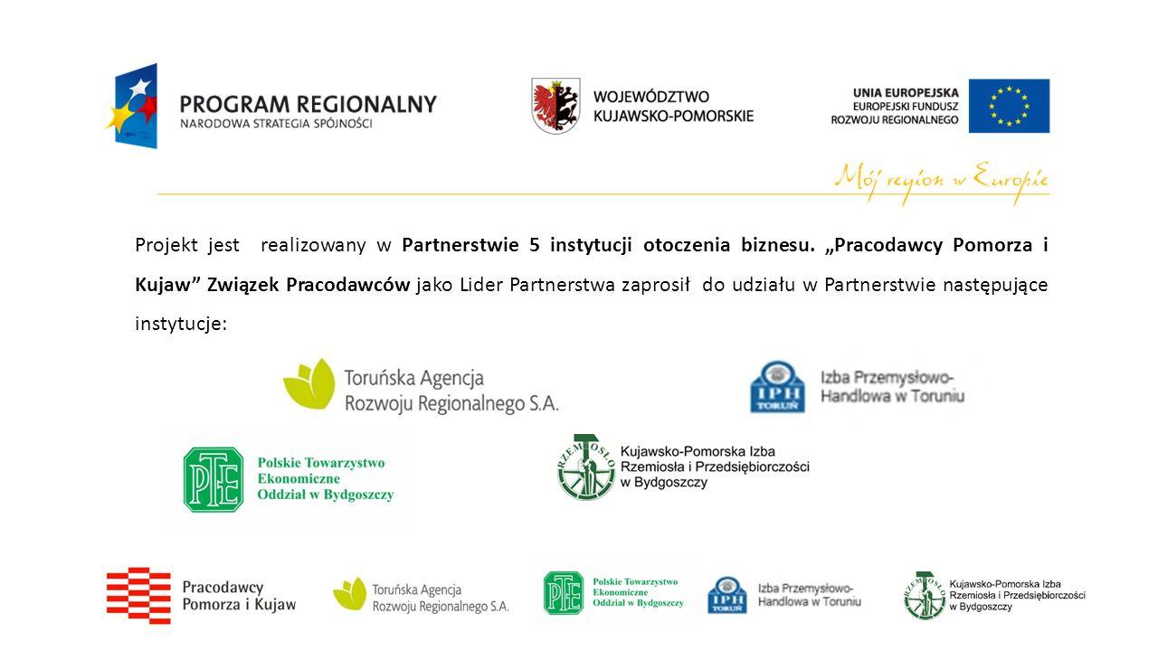 Projekt jest realizowany w Partnerstwie 5 instytucji otoczenia biznesu.