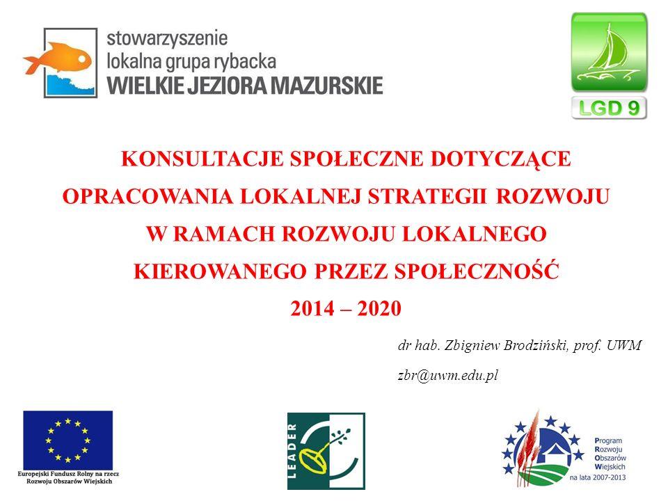 Założenia programu LEADER na lata 2014-2020 Wspierane będą operacje mające na celu:  podnoszenie wiedzy społeczności lokalnej w zakresie ochrony środowiska, zmian klimatycznych, ekologii, a także innowacji  rozwój produktów lokalnych oraz rozwój rynków zbytu dla tych produktów  zachowanie dziedzictwa lokalnego (historycznego, kulturowego, przyrodniczego, kulinarnego)  rozwój ogólnodostępnej i niekomercyjnej infrastruktury, w szczególności infrastruktury turystycznej, rekreacyjnej lub kulturalnej,  rozwój infrastruktury drogowej (zapewnienie spójności terytorialnej w zakresie włączenia społecznego)