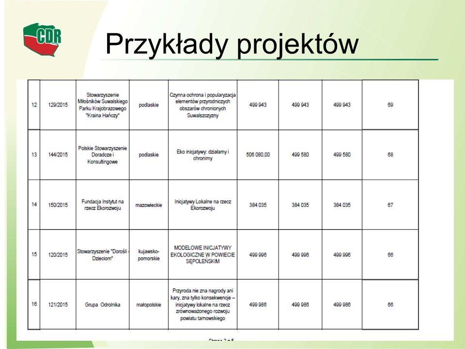 Przykłady projektów