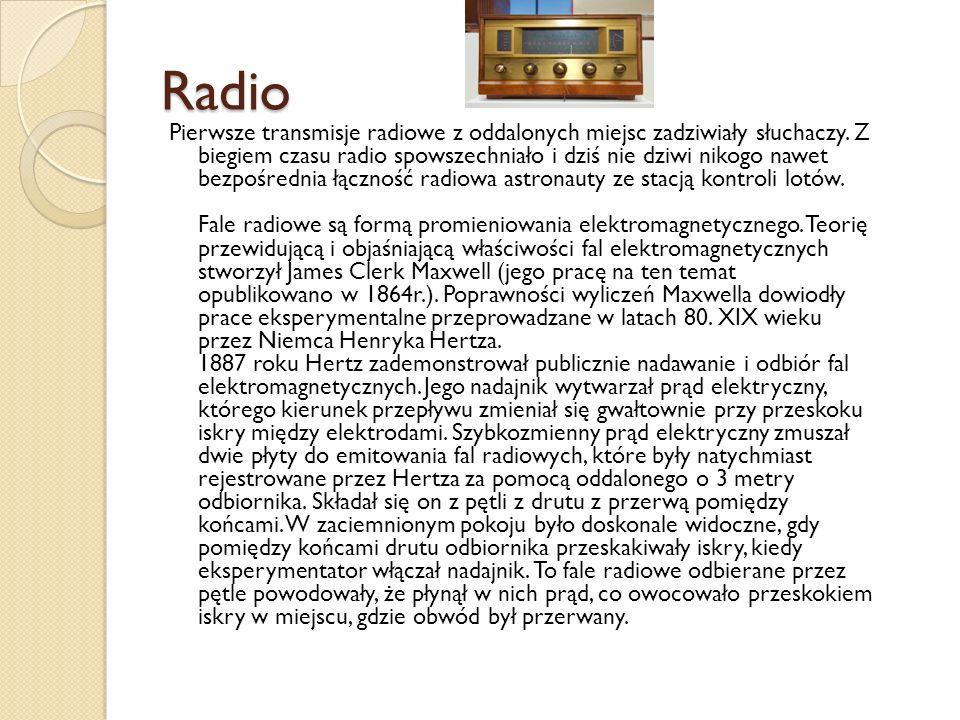 Radio Pierwsze transmisje radiowe z oddalonych miejsc zadziwiały słuchaczy.