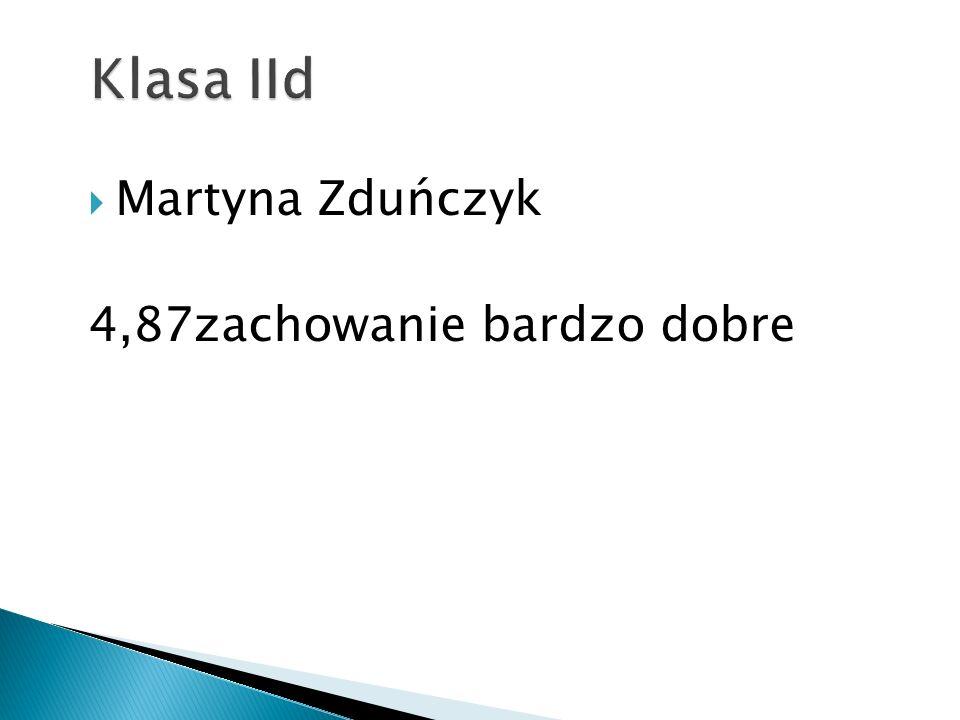  Martyna Zduńczyk 4,87zachowanie bardzo dobre