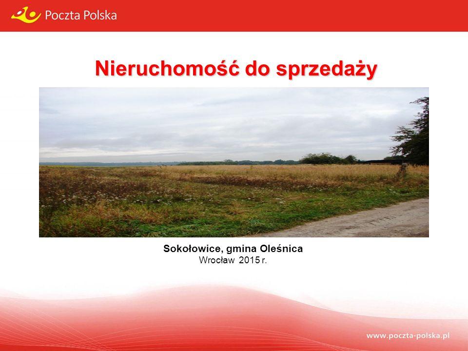 Nieruchomość do sprzedaży Sokołowice, gmina Oleśnica Wrocław 2015 r.
