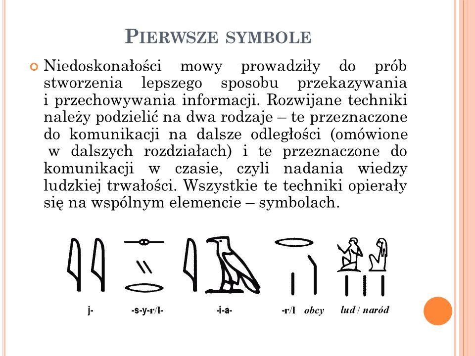 P ISMO Symbole były prekursorem kolejnego wielkiego wynalazku – pisma.