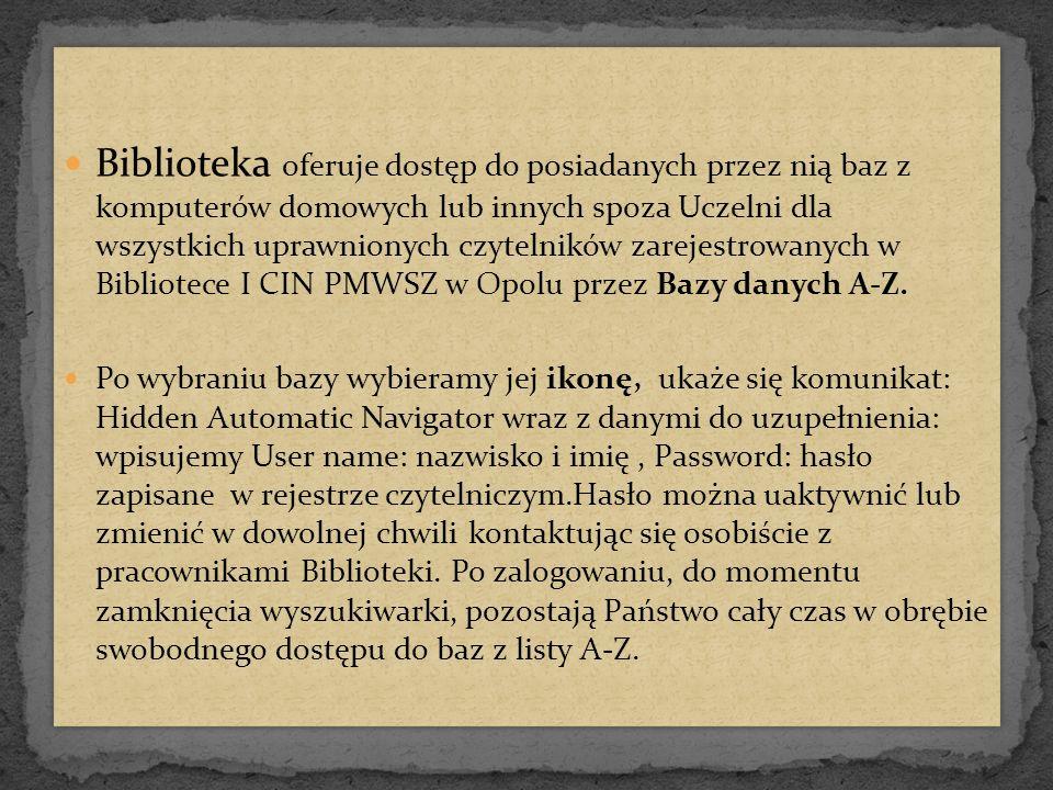 IBUK LIBRA.pl – elektroniczny, bezpłatny dla studentów PMWSZ i wykładowców dostęp do wybranych publikacji IBUK LIBRA.pl to pierwsza w Polsce czytelnia on-line podręczników akademickich i książek naukowych w języku polskim Platforma IBUK LIBRA.pl pozwala czytać wybrane książki oraz drukować do 20% każdej z nich IBUK LIBRA.pl – elektroniczny, bezpłatny dla studentów PMWSZ i wykładowców dostęp do wybranych publikacji IBUK LIBRA.pl to pierwsza w Polsce czytelnia on-line podręczników akademickich i książek naukowych w języku polskim Platforma IBUK LIBRA.pl pozwala czytać wybrane książki oraz drukować do 20% każdej z nich