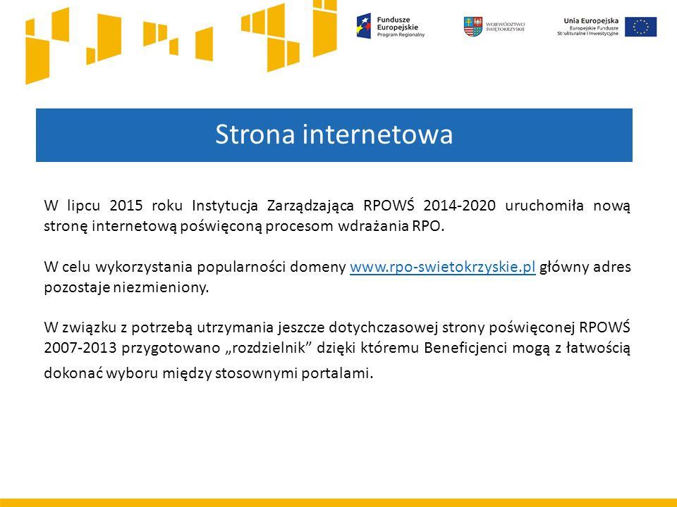 W lipcu 2015 roku Instytucja Zarządzająca RPOWŚ 2014-2020 uruchomiła nową stronę internetową poświęconą procesom wdrażania RPO. W celu wykorzystania p