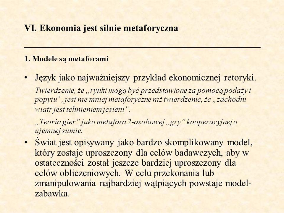 Język jako najważniejszy przykład ekonomicznej retoryki.
