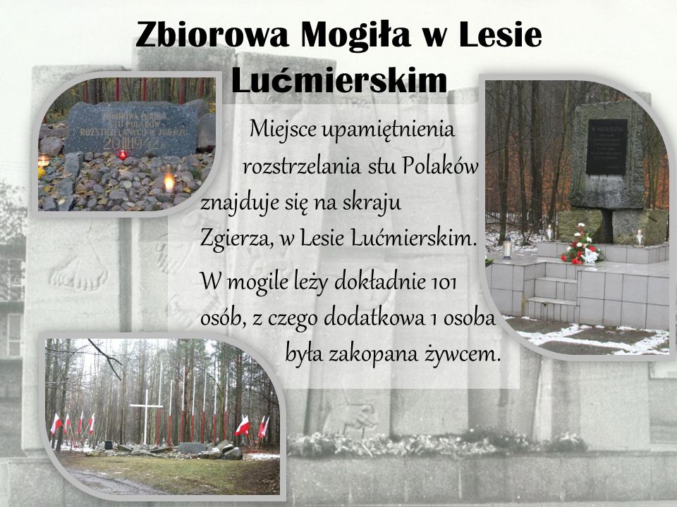 Pomnik Pierwszy pomnik był drewniany, powstał w roku 1945.