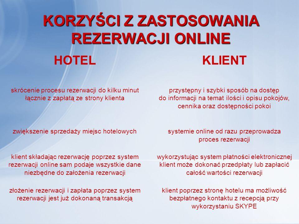 """SYSTEMY REZERWACYJNE W HOTELARSTWIE SYSTEMY REZERWACYJNE W HOTELARSTWIE Przykładem systemu pomagającego recepcjonistom skutecznie obsłużyć rezerwacje dokonywane za pośrednictwem sieci internetowej jest jeden z najpopularniejszych w Polsce system oprogramowania hotelowego """"CHART"""