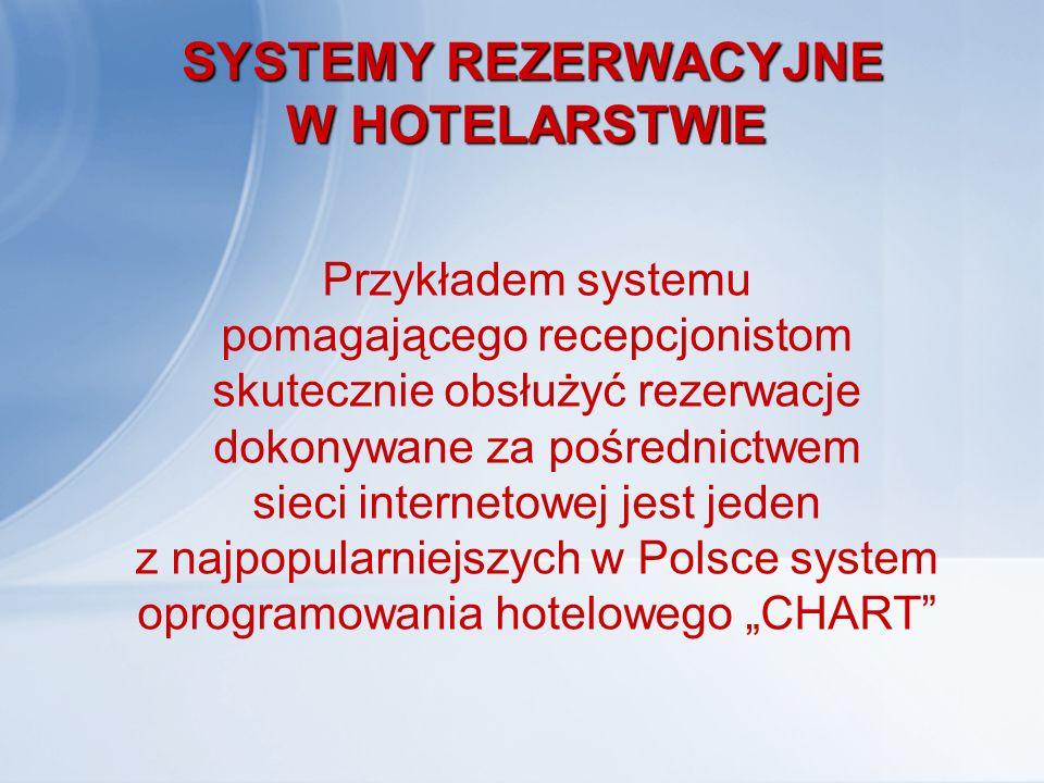 """SYSTEM REZERWACJI HOTELOWEJ """"CHART Pomimo że program zawiera bogaty pakiet funkcji charakteryzuje się łatwością obsługi."""