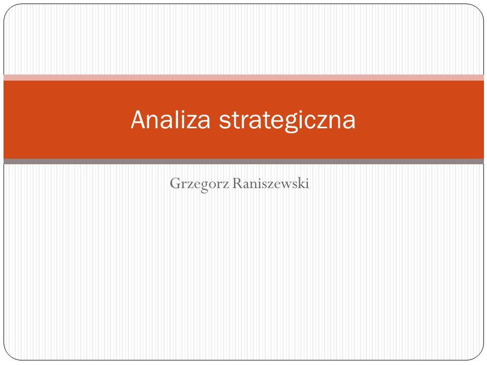 Grzegorz Raniszewski Analiza strategiczna
