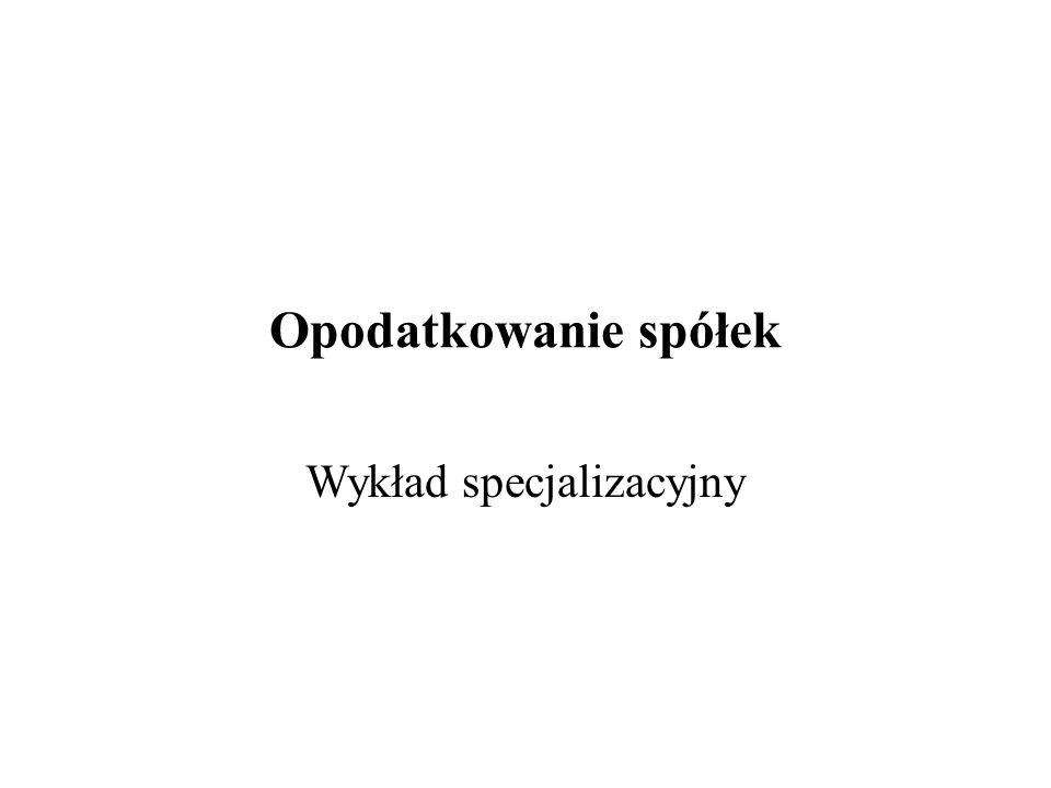 Opodatkowanie akcjonariusza (osoba prawna) S.KA.Komplementariusz 1 % Akcjonariusz ( spółka z o.o.