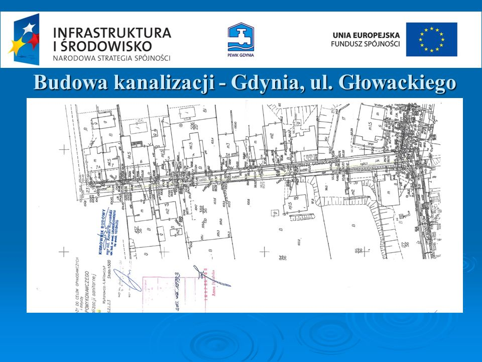 Budowa kanalizacji - Gdynia, ul. Głowackiego