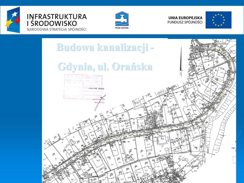 Budowa kanalizacji - Gdynia, ul. Orańska
