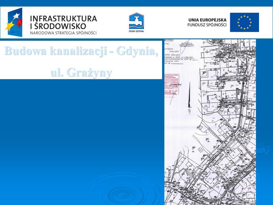 Budowa kanalizacji - Gdynia, ul. Grażyny