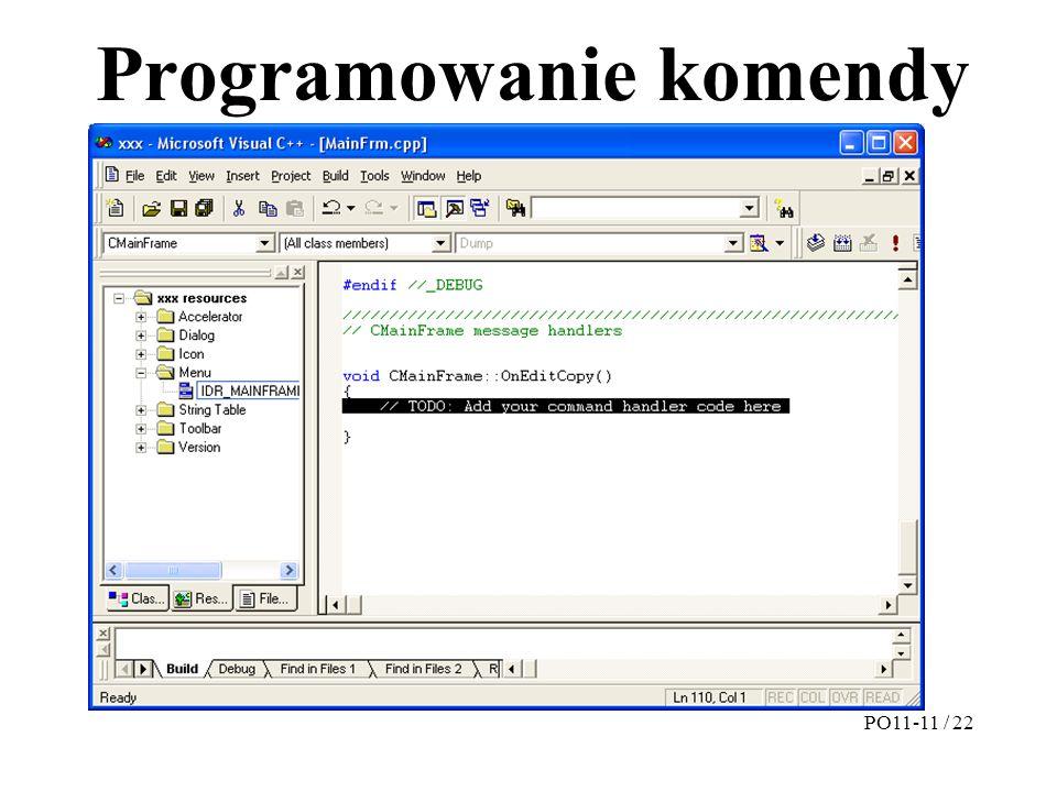 Programowanie komendy PO11-11 / 22