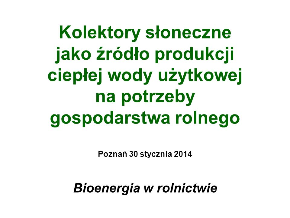 Bezpieczeństwo energetyczne Polski ZOBOWIĄZANIA DO 2020 ROKU, PAKIET UE 3 x 20 Wykorzystanie lokalnych odnawialnych źródeł energii: - biomasa (rolnicza – słoma, drewno, odpady) - biogaz (rolniczy, odpadowy, przemysłowy) - kolektory słoneczne (budownictwo mieszkaniowe, budynki publiczne) - ogniwa fotowoltaiczne (instalacje indywidualne, elektrownie słoneczne) - energetyka wiatrowa (mikrowiatraki, farmy wiatrowe) - energia geotermalna (płytka, głęboka, pompy ciepła) Rozwój budownictwa energooszczędnego i pasywnego, termomodernizacje.