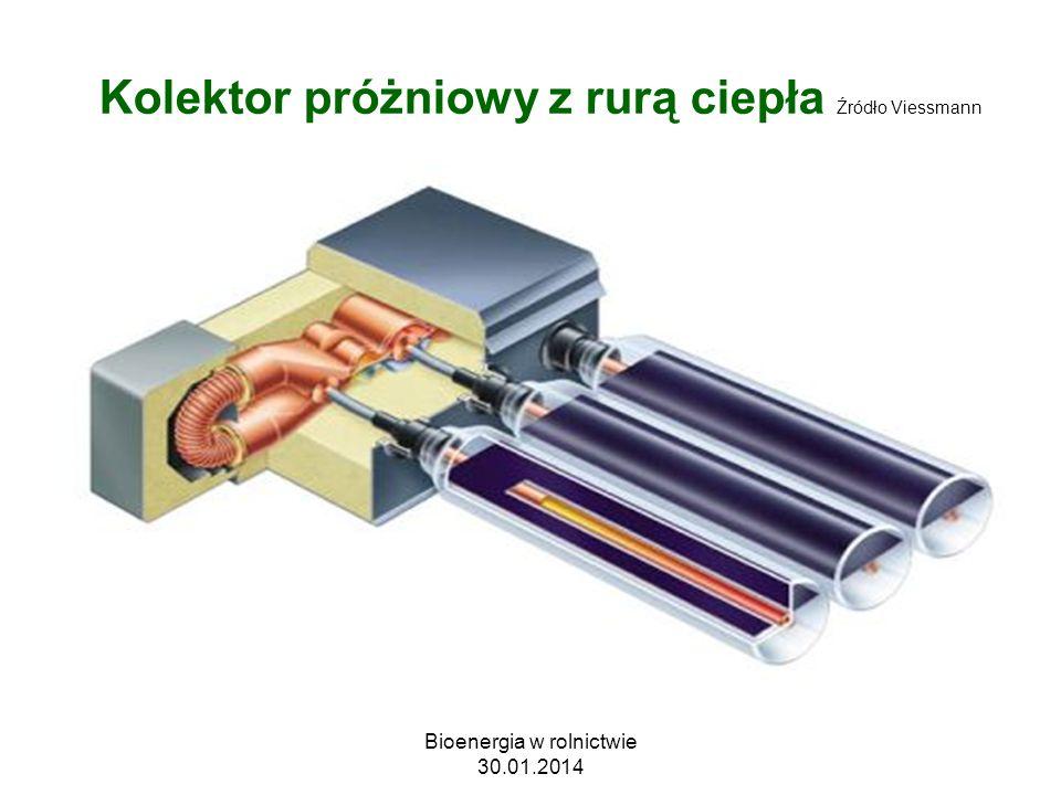 Kolektor próżniowy z rurą ciepła Źródło Viessmann Bioenergia w rolnictwie 30.01.2014
