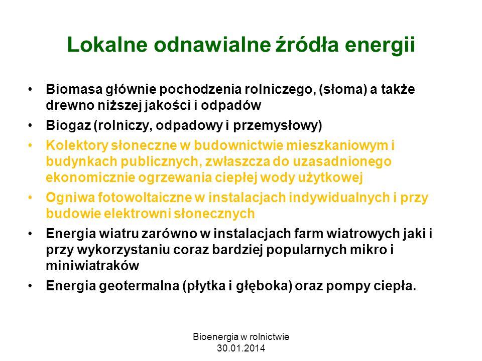 Zasada działania kolektora słonecznego z rurą ciepła (źródłowww.xenergy.pl) Bioenergia w rolnictwie 30.01.2014