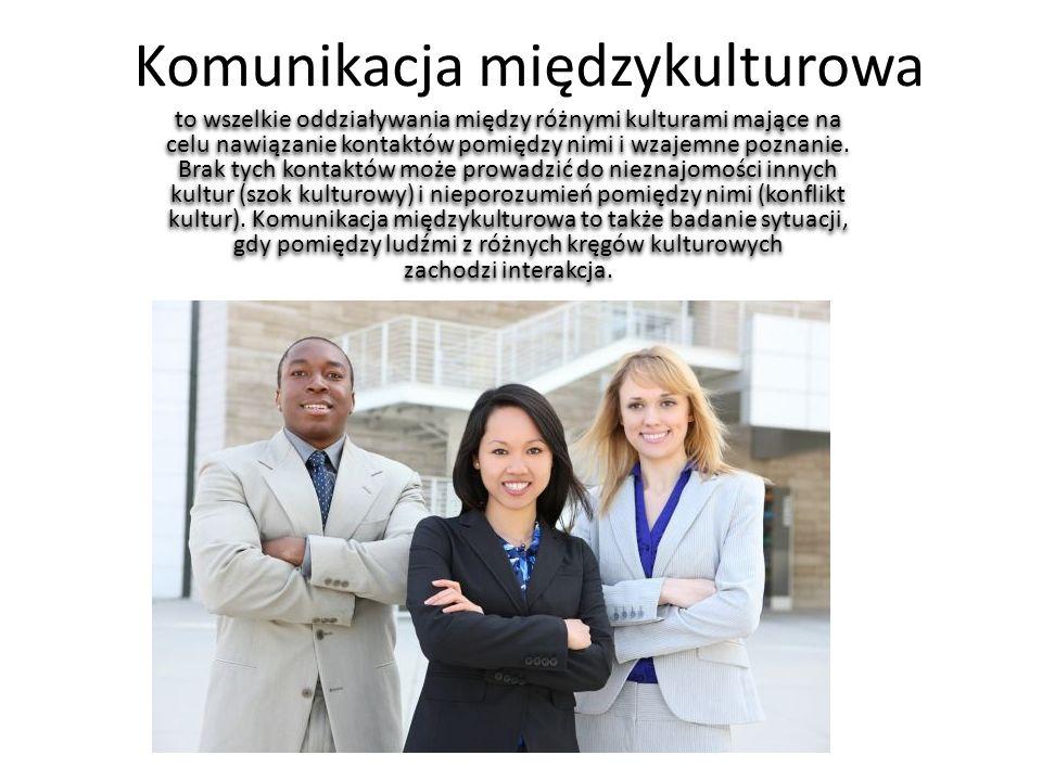 Komunikacja międzykulturowa to wszelkie oddziaływania między różnymi kulturami mające na celu nawiązanie kontaktów pomiędzy nimi i wzajemne poznanie.