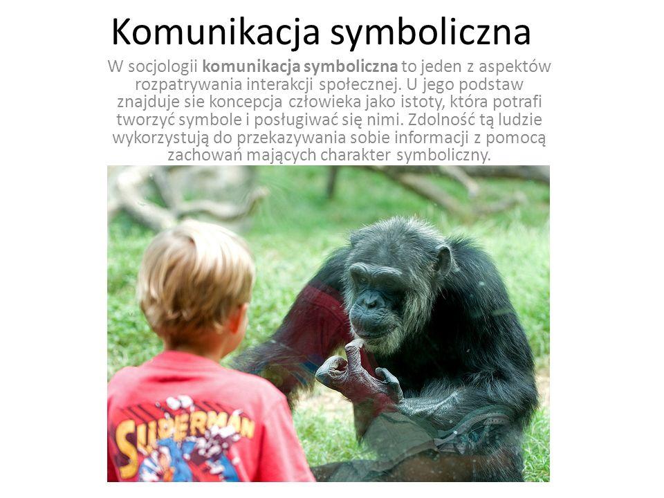 Komunikacja symboliczna W socjologii komunikacja symboliczna to jeden z aspektów rozpatrywania interakcji społecznej. U jego podstaw znajduje sie konc