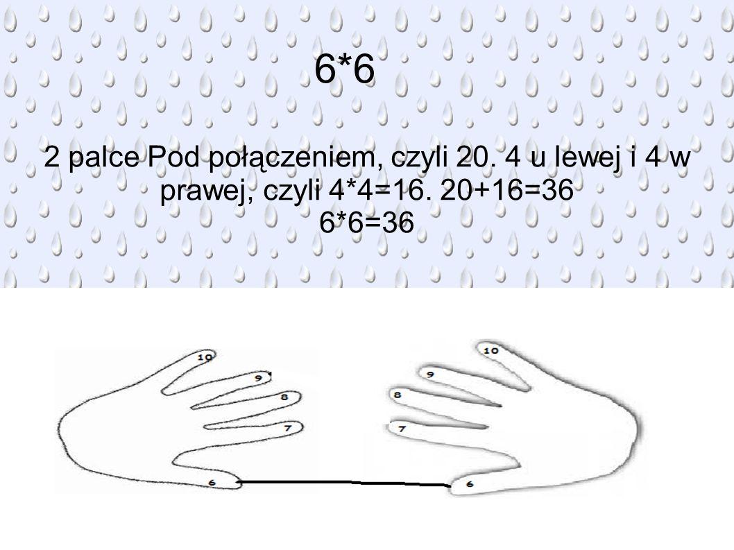 6*6 2 palce Pod połączeniem, czyli 20. 4 u lewej i 4 w prawej, czyli 4*4=16. 20+16=36 6*6=36