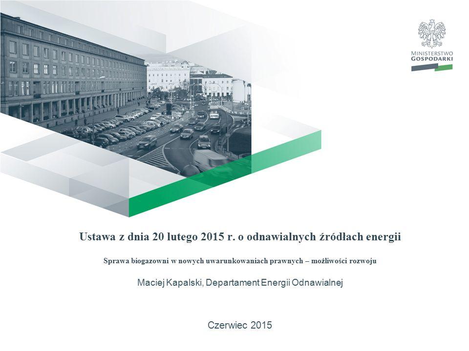12Ustawa OZE12 Mechanizmy i instrumenty wspierające wytwarzanie energii elektrycznej z OZE i biogazu rolniczego oraz ciepła w instalacjach OZE Art.