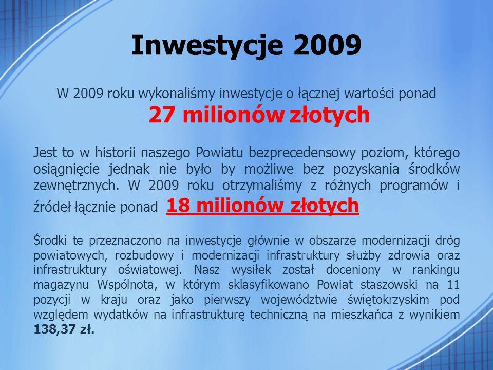 """Zadania z zakresu rozbudowy bazy oświatowej – 2009 Zadanie pod nazwą: """"Przebudowa budynku szkolnego Zespołu Szkół Ekonomicznych im."""