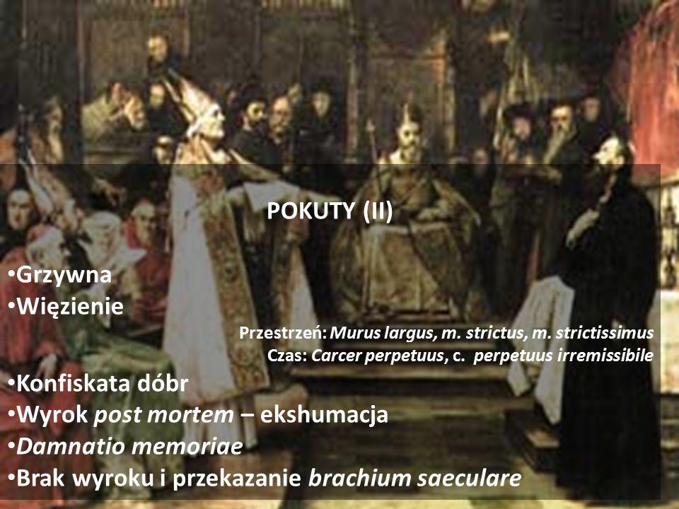 POKUTY (II) Grzywna Więzienie Przestrzeń: Murus largus, m.