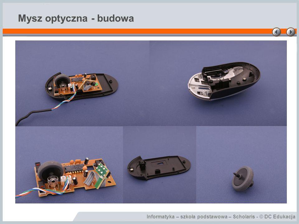 Informatyka – szkoła podstawowa – Scholaris - © DC Edukacja Mysz optyczna - budowa