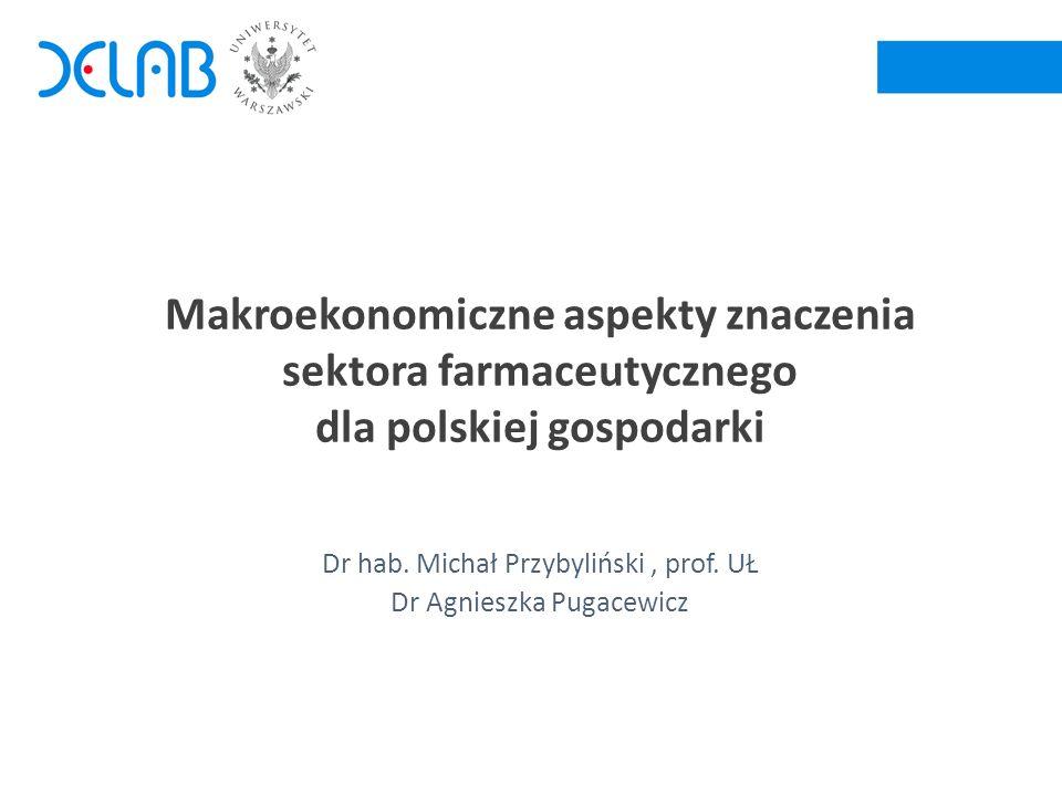 2 Sektor farmaceutyczny a budżet państwa Źródło: Obliczenia na podstawie Bilansu przepływów międzygałęziowych GUS, 2010 r.