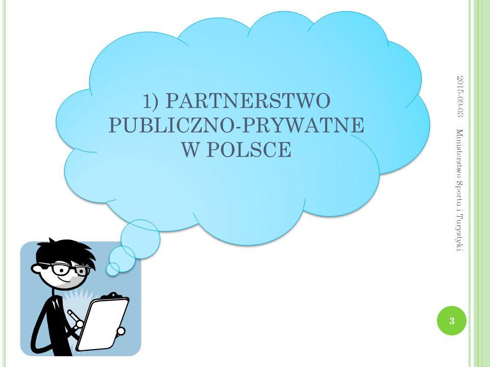 1) PARTNERSTWO PUBLICZNO-PRYWATNE W POLSCE 2015-09-03 3 Ministerstwo Sportu i Turystyki