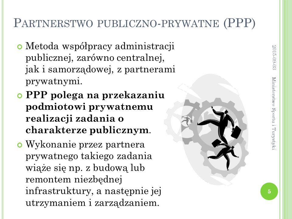 P ARTNERSTWO PUBLICZNO - PRYWATNE (PPP) Metoda współpracy administracji publicznej, zarówno centralnej, jak i samorządowej, z partnerami prywatnymi.