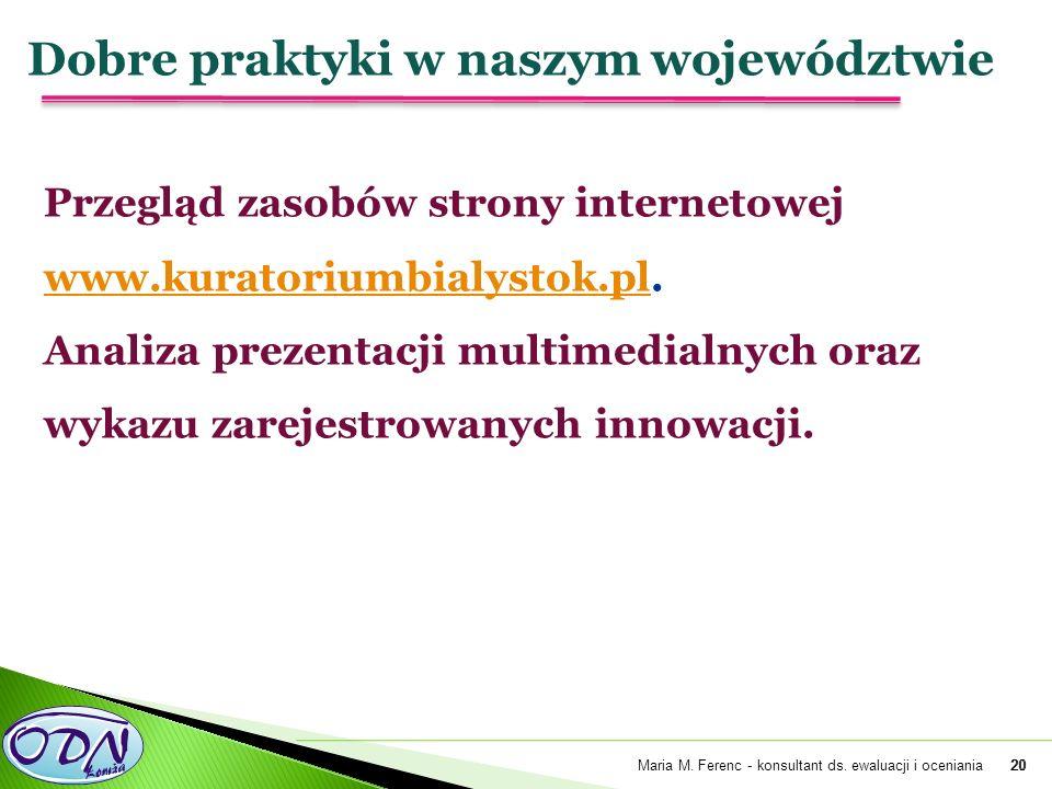 20 Przegląd zasobów strony internetowej www.kuratoriumbialystok.pl.