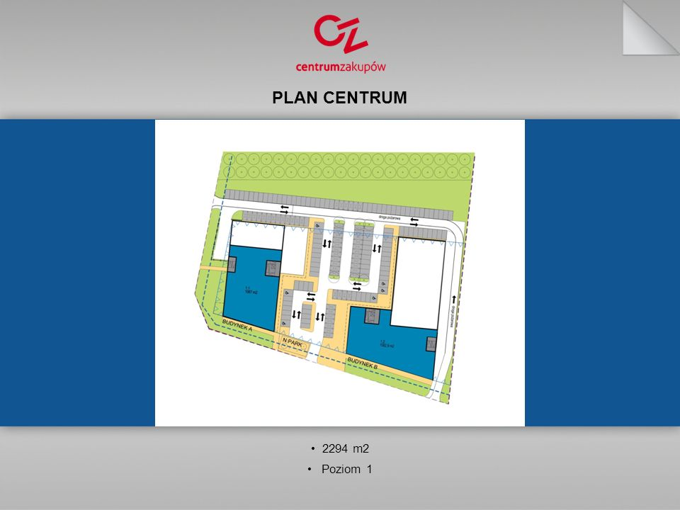PLAN CENTRUM 2294 m2 Poziom 1