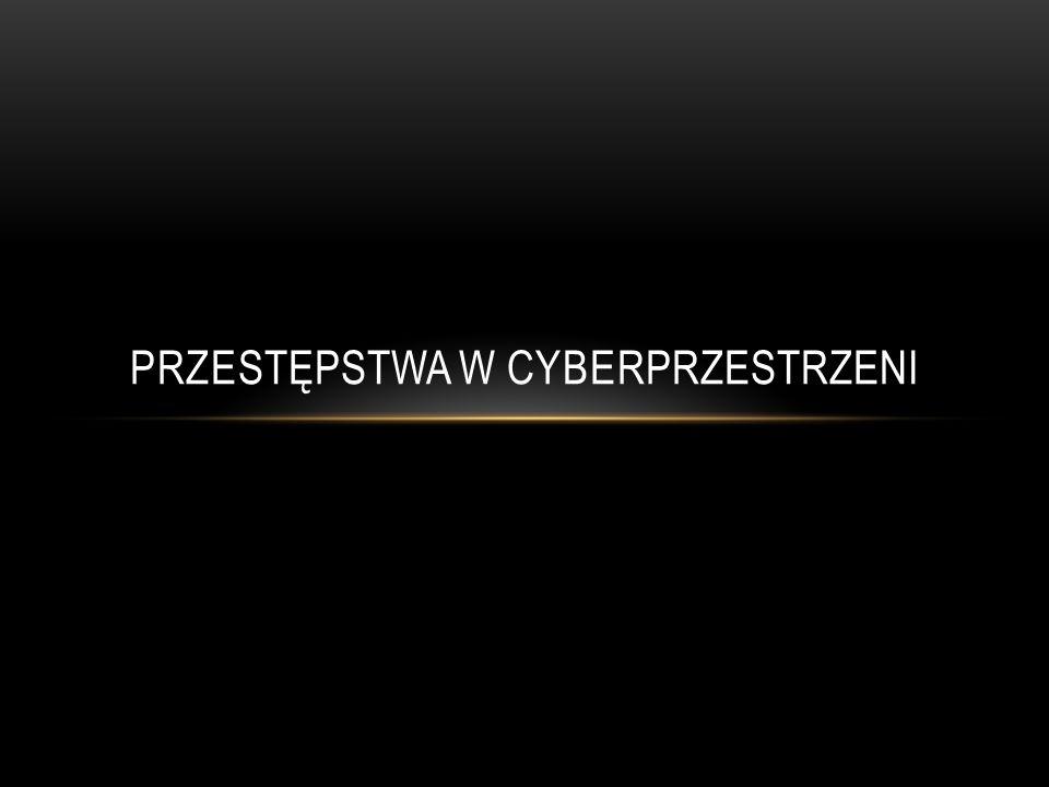 Kwestią związaną z zagrożeniami dla młodzieży, jest możliwość popełnianie przestępstw w cyberprzestrzeni za pomocą Internetu.