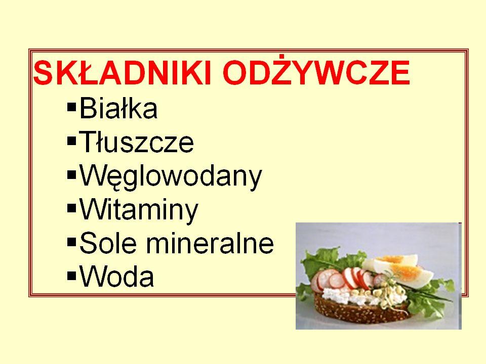 Substancje dodawane do żywności dzieli się na następujące grupy: