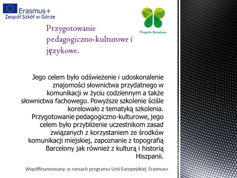 Współfinansowany w ramach programu Unii Europejskiej Erasmus+ Zespół Szkół w Górze Nasz certyfikat