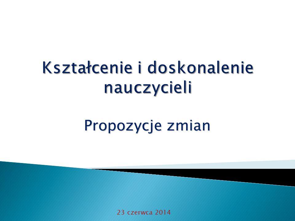 Propozycje zmian 23 czerwca 2014