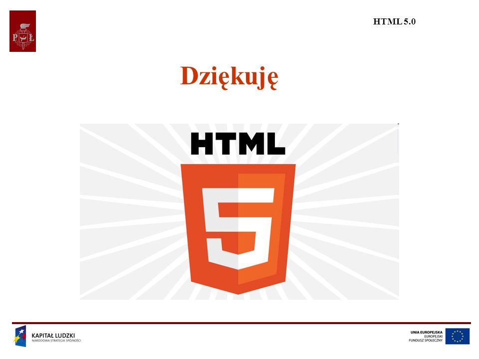 HTML 5.0 Dziękuję