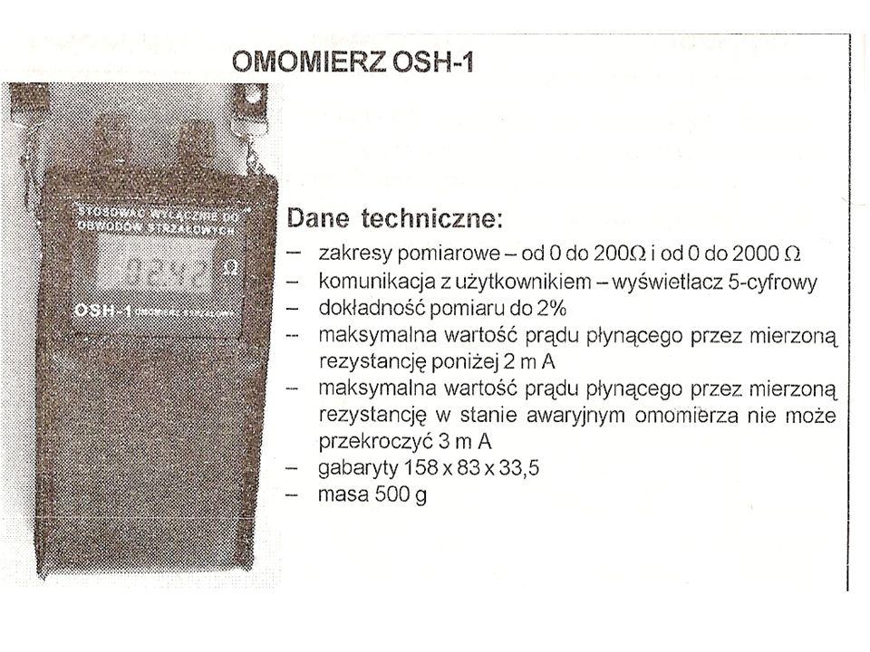 Przyrządem odpowiednim do tego celu jest miernik oporu (rezystancji) izolacji typu MRI-1 o napięciu 1000 V, o zakresach pomiarowych 0-200 i 0-2000 Ω.