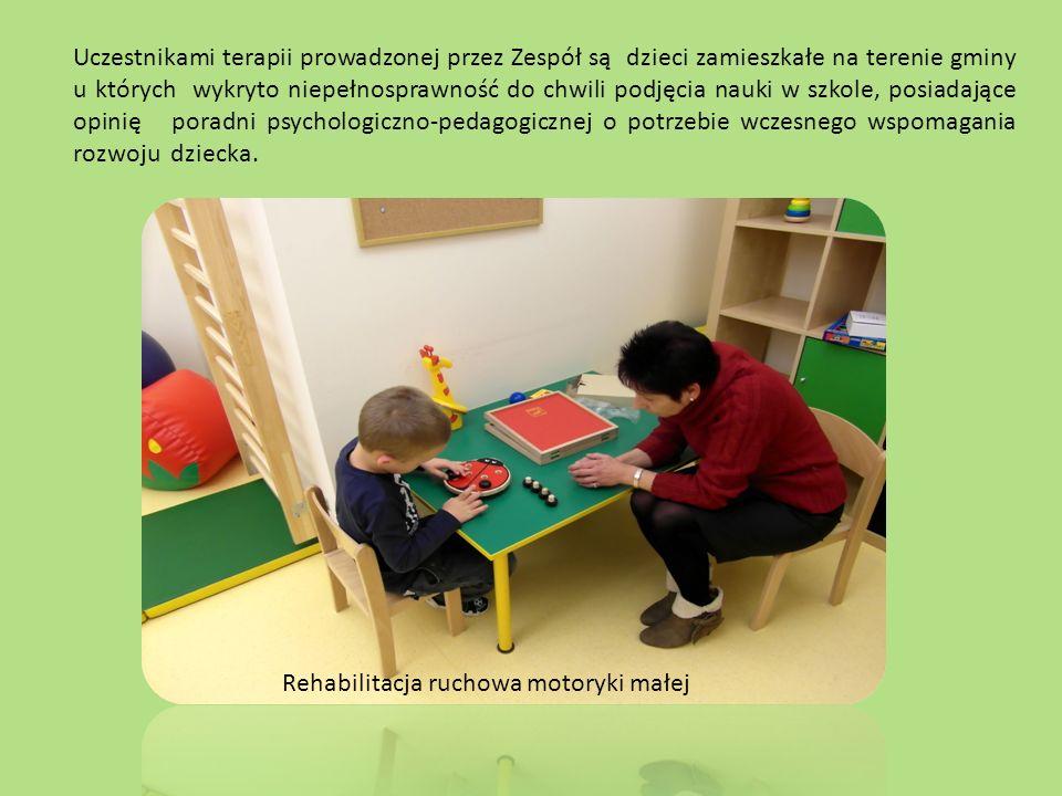 Uczestnikami terapii prowadzonej przez Zespół są dzieci zamieszkałe na terenie gminy u których wykryto niepełnosprawność do chwili podjęcia nauki w szkole, posiadające opinię poradni psychologiczno-pedagogicznej o potrzebie wczesnego wspomagania rozwoju dziecka.